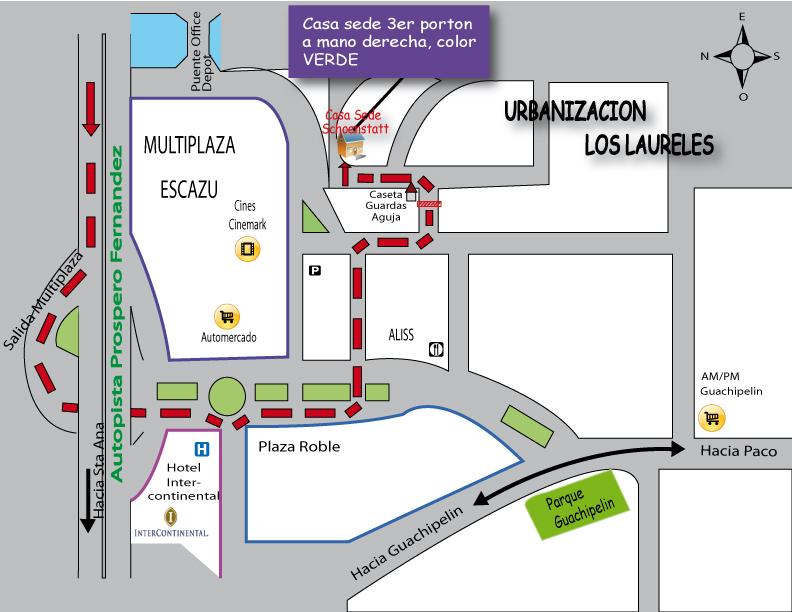 Mapa Con Un Puntero Ubicación: Mapa Direccion Ermita